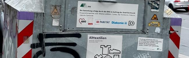 Wertstoffsammlung ohne Klientel: Alttextil-Depotcontainer der EDG werden demnächst aus dem Stadtbild verschwinden