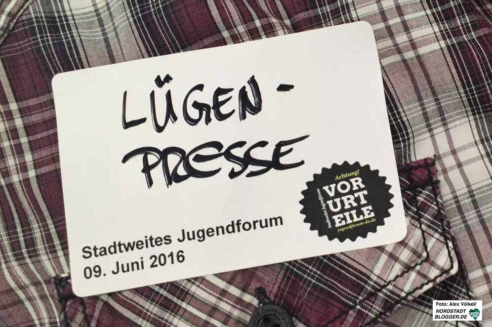 """""""Lügenpresse"""" - ein häufiger Vorwurf von Rechtspopulisten, Neonazis und Querdenkern. Archivbild: Alex Völkel"""