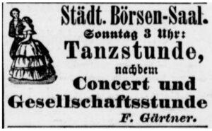 Werbeanzeige für Tanzstunden (Dortmunder Zeitung, 11.05.1895)