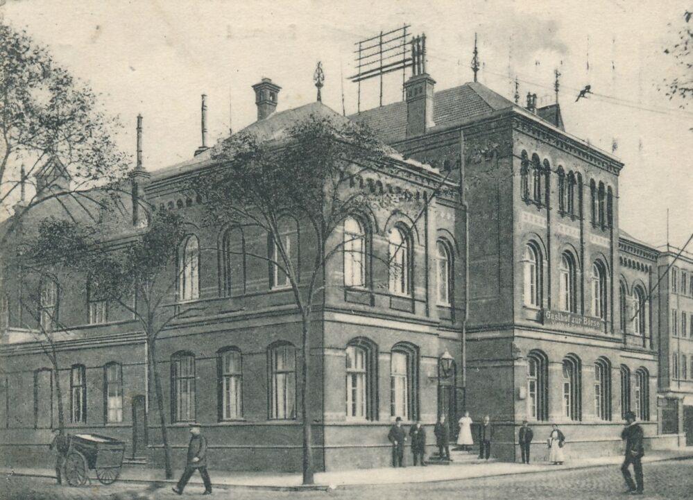 """""""Zur Börse"""" an der Ecke Viehmark- /Steinstraße, 1912 (Sammlung Klaus Winter)"""