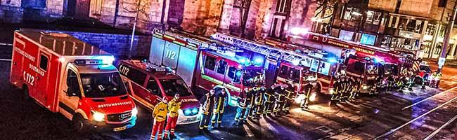 """Feuerwehr setzt ein Zeichen: """"Wir sind immer für Euch da!"""""""