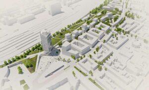 Die Gestaltung des nördlichen Bahnhofsumfeldes ist ein gewaltiges Projekt - und könnte in den nächsten Jahren Investitionen von 640 Millionen Euro nach sich ziehen. Visualisierung: Raumwerk