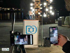 Die Gemeinde ist digitaler geworden - schon vor Corona. Auch die Chanukka-Zeremonie wurde via Livestream übertragen.