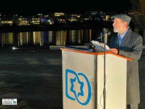 Der Vorsitzende der Jüdischen Kultusgemeinde, Zwi Hermann Rappoport, fand mahnende Worte.