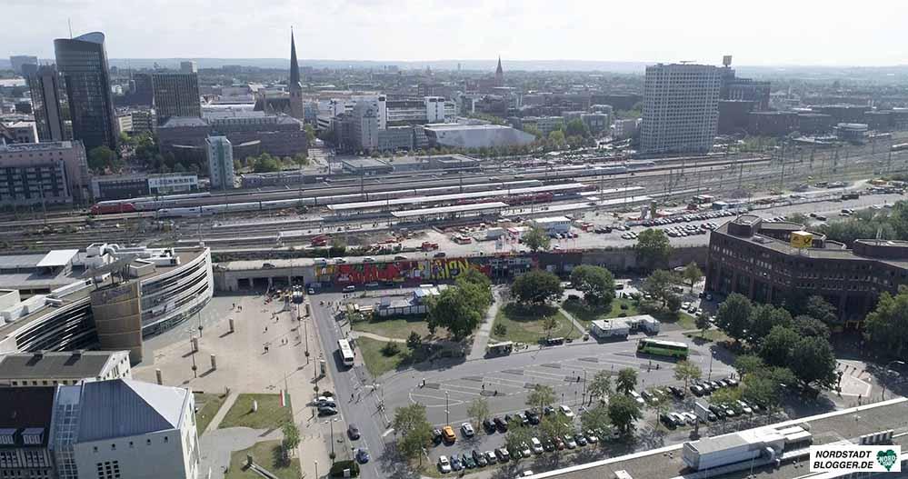 Das nördliche Bahnhofsumfeld soll sich in den kommenden Jahren grundlegend verändern. Foto: Ulrich Baringhorst