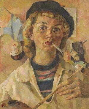 Frühes Selbstbildnis, um 1947 Öl auf Hartfaser, 45 x 37 cm © Kunststiftung Ruth Baumgarte, Foto: Ulrich Helweg