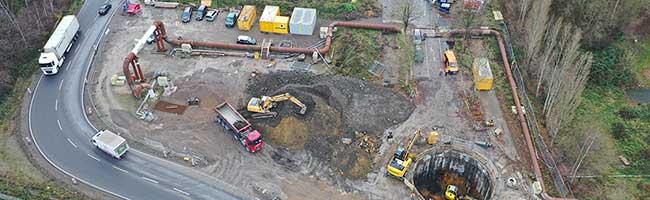 Abwasserkanal an der Emscherallee ist wieder in Betrieb – Ursache für Schäden bleibt weiter ungeklärt