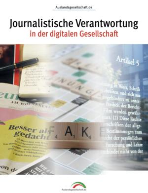 """Titelbild des Sonderheftes """"Journalistische Verantwortung in der digitalen Gesellschaft"""""""