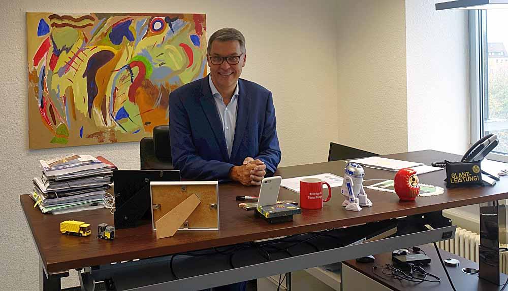 Thomas Westphal an seinem ersten Arbeitstag als neuer OB. Foto: Thomas Engel
