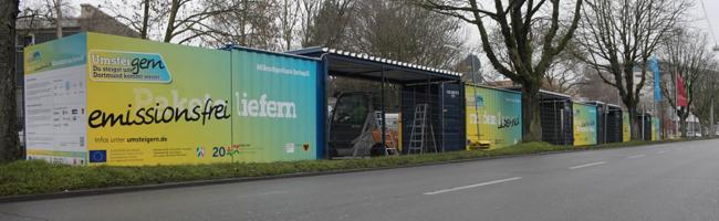 Mikrodepot in der Innenstadt startet: Verschiedene Paketdienste testen gemeinsam emmisionsfreie Zustellung