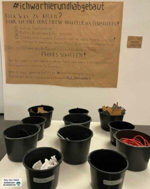 In der Ausstellung gibt es mehrere Mitmachen- bzw. Selbstmachangebote.