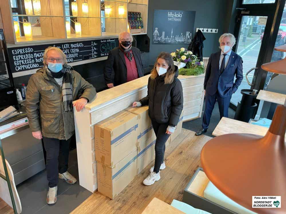 Olaf Meyer, Ralf Stoltze, Vivianne Dörne und Manfred Kossack stellten das neue Angebot vor. Fotos: Alex Völkel
