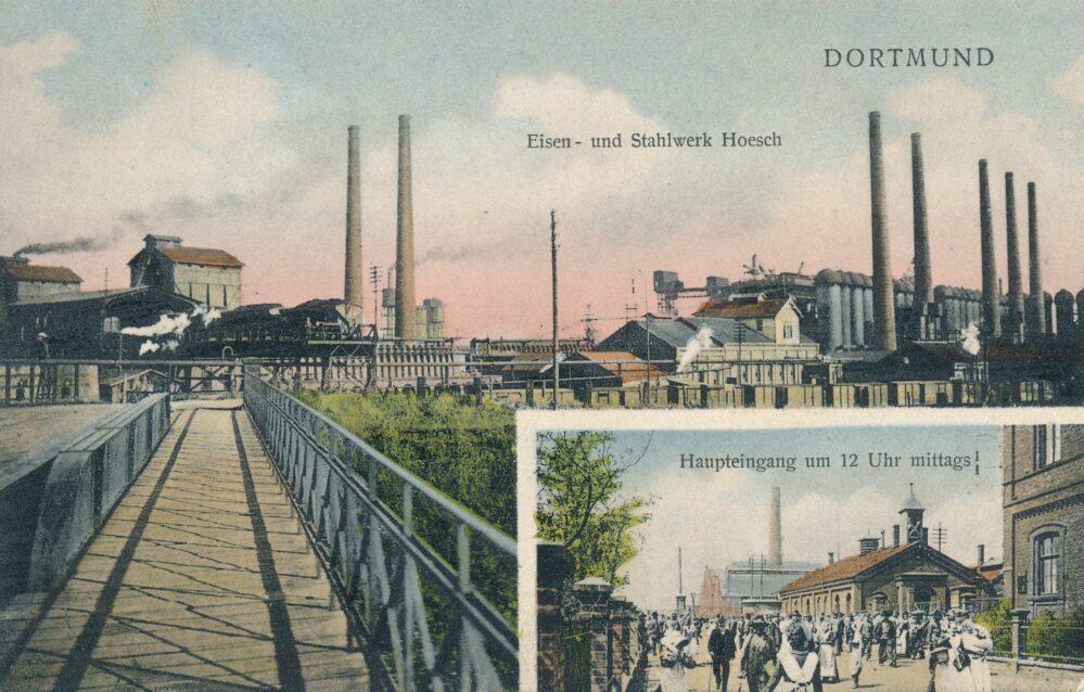 Eisen- und Stahlwerk Hoesch, um 1905 (Sammlung Klaus Winter)