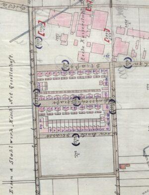 Siedlungsplan, 1901 (Stadtarchiv Dortmund, Bestand 3-3501)