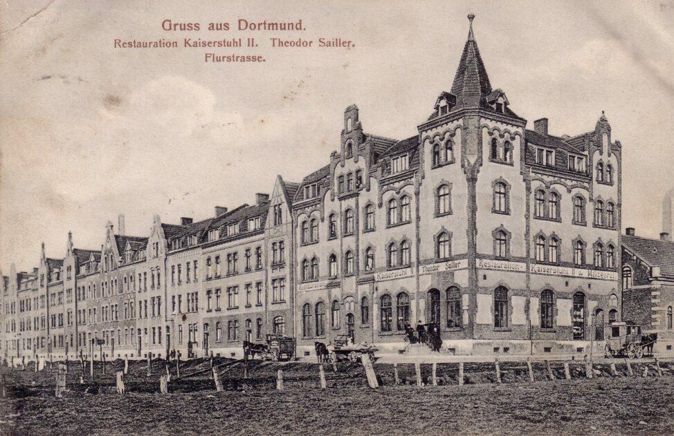 Restauration Kaiserstuhl an der Ecke Von-Buch- /Flurstraße, Ansichtskarte, um 1910 (Sammlung Klaus Winter)
