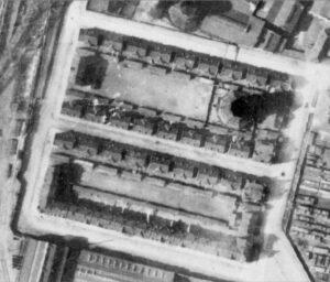 Siedlung mit Kühlturm, 1926 (geopartal.ruhr)