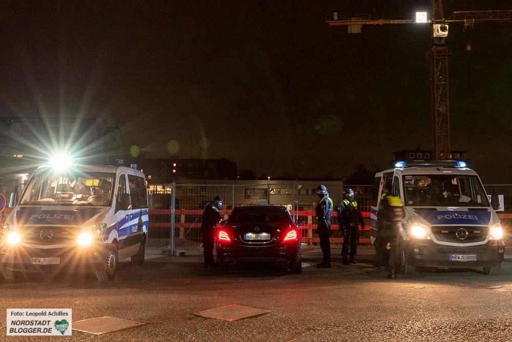 Die Polizei setzt ihre Kontrollen mit Schwerpunkteinsätzen fort. Fotos: Leopold Achilles