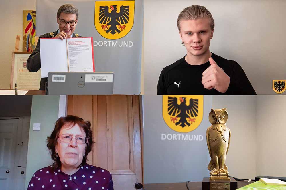 Partnerschaft bestärkt: Partnerschaftsvertrag zwischen den Städten Dortmund und Leeds erneuert. Bilder: Roland Gorecki