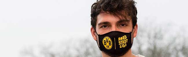 """BVB-Stiftung """"leuchte auf"""" spendet 14.000 Masken an die Nordstadtliga – außerdem gibt's Videos zum Fitbleiben online"""
