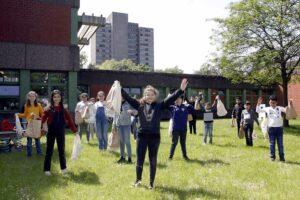 Alle 3000 Kinder der sieben Nordstadt-Grundschulen erhielten im Mai 2020 Spiel- und Lernrucksäcke. Foto: Stadt
