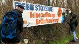 Rund um den Borsigplatz wirbt der Freundeskreis Hoeschpark für den Erhalt des Freibads Stockheide.