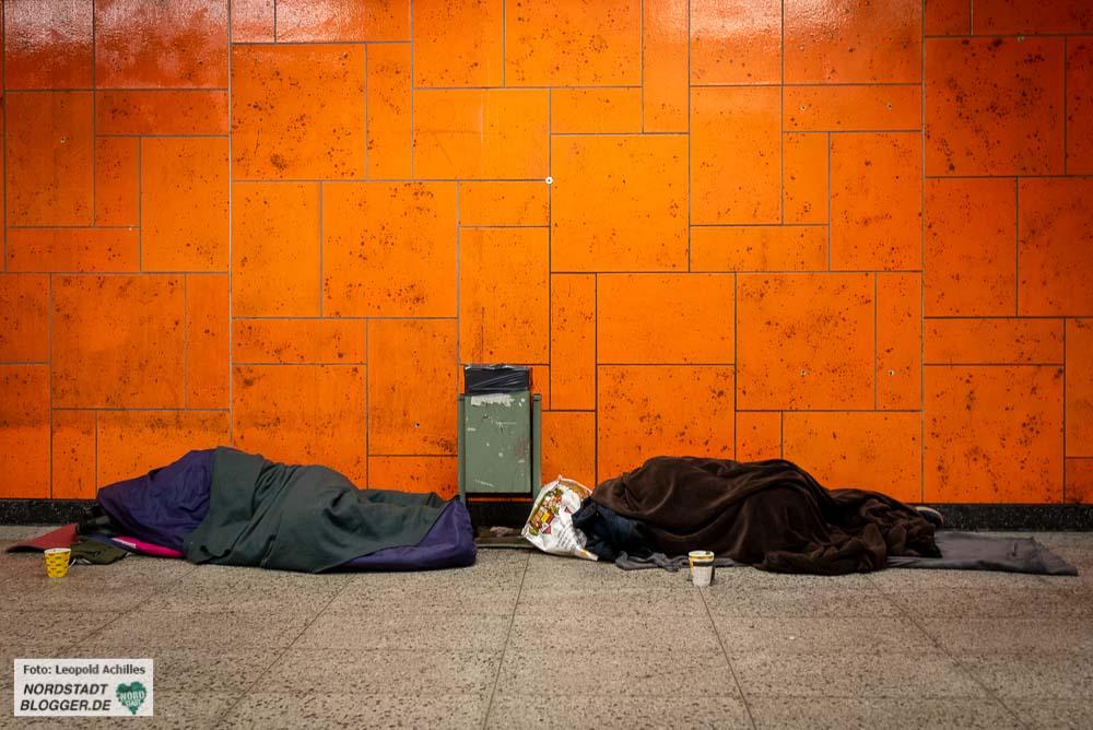 Die Stadt hat auch die Passage am Hauptbahnhof für Obdachlose geöffnet. Foto: Leopold Achilles
