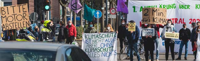 """""""Ausschwärmen statt Aussterben"""": Protest von """"Extinction Rebellion"""" für Klimaschutz auf dem Wallring in Dortmund"""