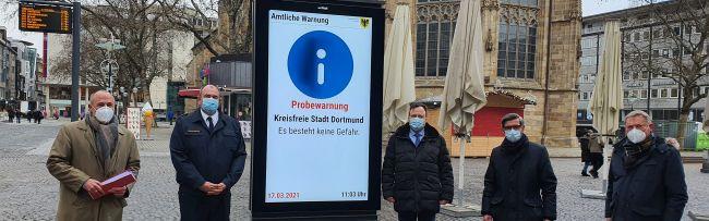 Digitaler Katastrophenschutz: Dortmund nutzt als erste Großstadt in NRW auch Werbetafeln zur Warnung