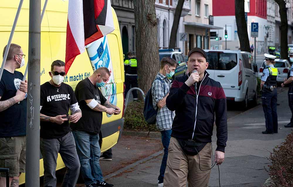 Kein Mobilisierungerfolg: Neonazis forderten die Haftentlassung ihres Kameraden. Fotos: David Peters