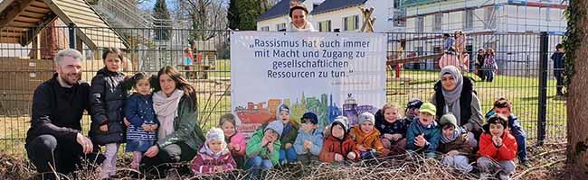 Viele Dortmunder Einrichtungen haben sich an den Wochen gegen Rassismus beteiligt - darunter auch 20 Einrichtungen der AWO - hier Familienzentrum & Kita Aplerbecker Straße.