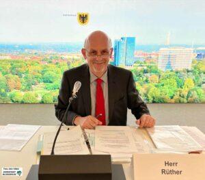 Wirtschaftsförderungsausschuss - Vorsitzender Franz-Josef Rüther. Foto: Alex Völkel