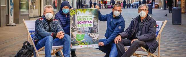Rüttelt nicht am Ruhetag! Allianz macht mit Plakataktion in Dortmund auf 1700 Jahre Sonntagsschutz aufmerksam