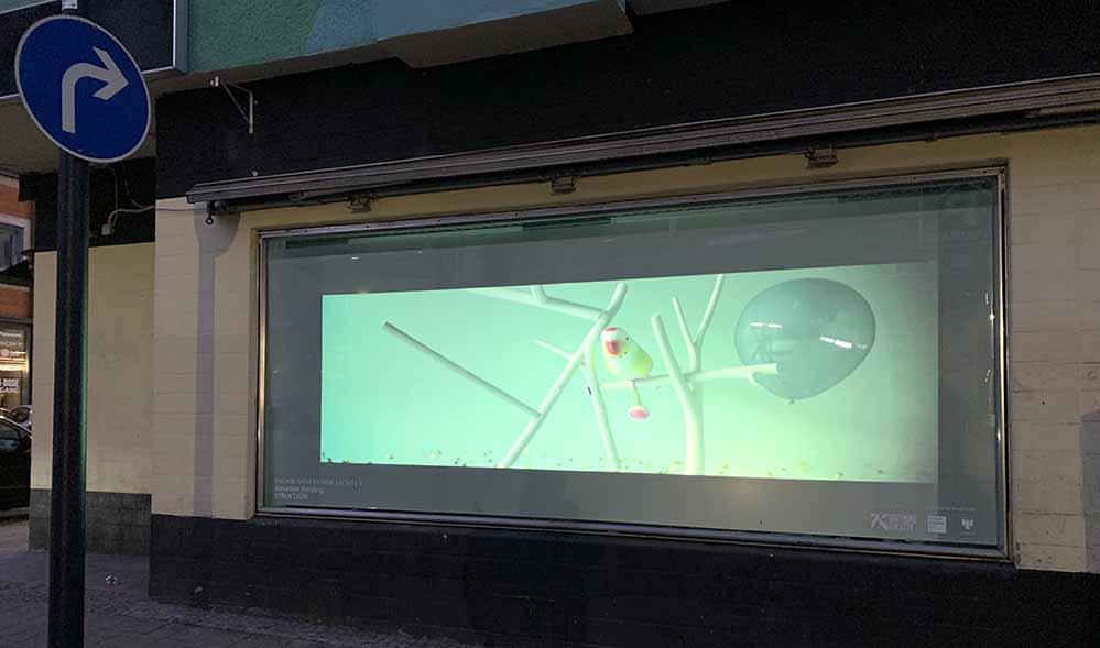 """Im Rahmen von """"Vagabundierende Lichter"""" zeigt Alexander Kersting seine Arbeit """"STRUKT.KON"""". Foto: Dortmund-Kreativ"""