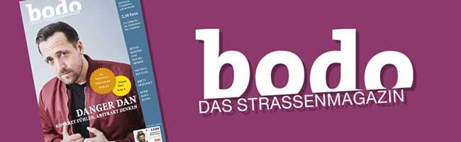 """bodo"" – das Straßenmagazin im Mai: Finanzminister Olaf Scholz zu Ausbeutung, Obdachlosigkeit und Bürgergeld"