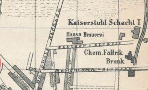 Lage der Brauerei auf einem Stadtplan um 1903 (Slg. Klaus Winter)