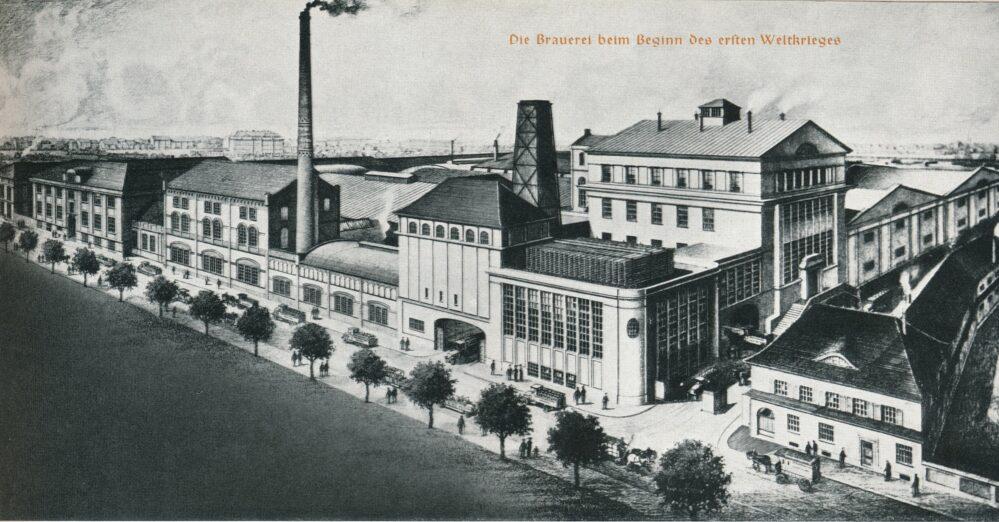Hansa-Brauerei um 1914: Noch fehlt das Hochhaus! (Tille: 50 Jahre Dortmunder Hansa-Brauerei)