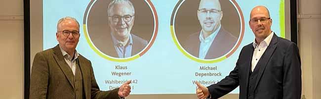 Die CDU Dortmund geht mit Klaus Wegener und Michael Depenbrock ins Rennen um die Bundestagsmandate