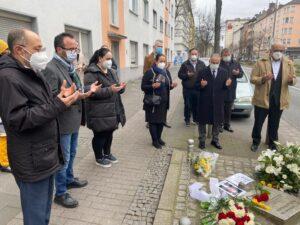 Ahmad Aweimer, Sprecher des Rates der Dortmunder Muslime und Imam, sprach ein Totengebet für alle NSU-Opfer