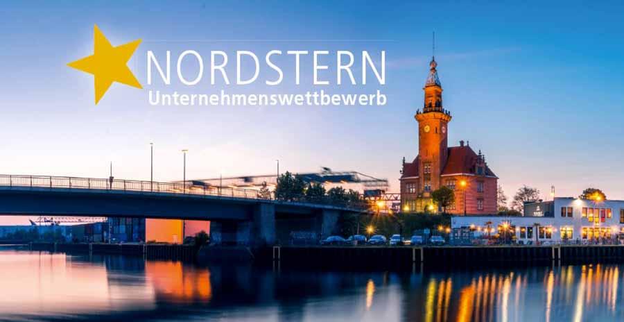 """Einladungskarte zur Teilnahme am Unternehmens-Wettbewerb """"Nordstern""""."""