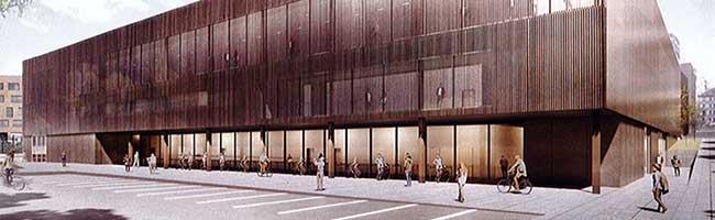 So soll die neue bundesligataugliche Vierfachsporthalle mit Platz für 3250 Zuschauer*innen im Unionviertel aussehen