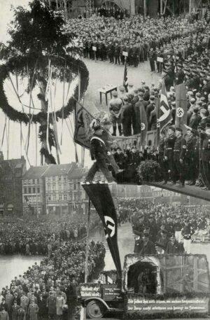 """""""Festtag der Arbeit"""", Werkszeitschrift der Harpener Bergbau-A.G., Heft 11, Mai 1936"""