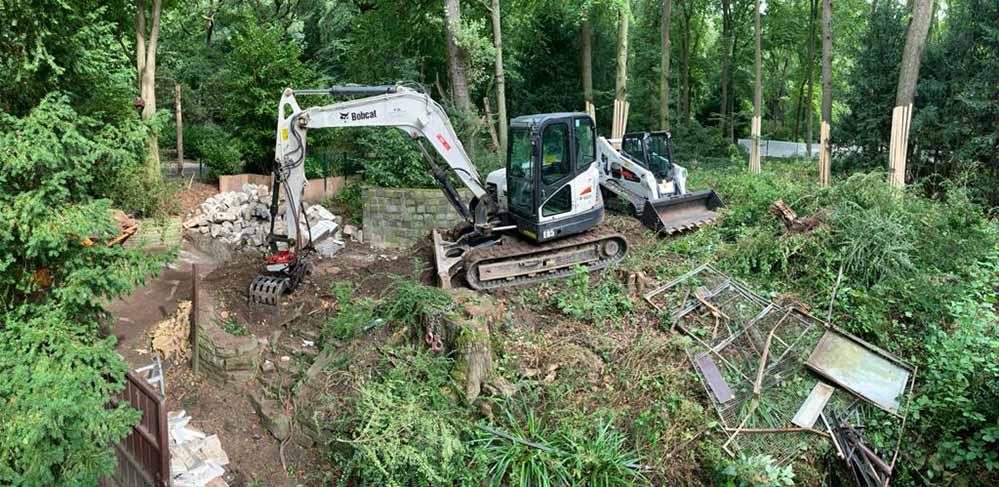 Die Bauarbeiten an der Bärenanlage in Dortmunder Zoo machen Fortschritte. Fotos: Verein