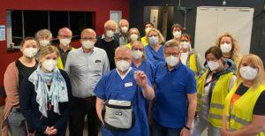 150 obdachlose Personen machten bereits am ersten Tag Gebrauch vom Impfangebot des Gast-Haus e.V. und seiner Kooperationspartner im FZW. Foto: Marc Raschke / Klinikum Dortmund