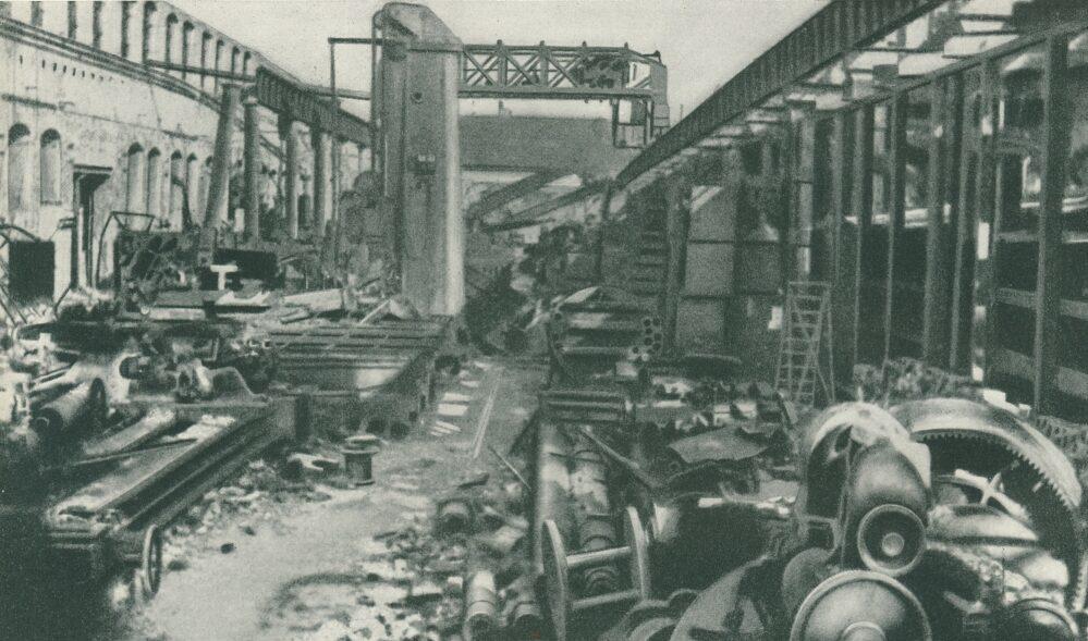 Kriegszerstörte Werksanlagen (v. Klaß: Maschinenfabrik Deutschland 1872-1952)
