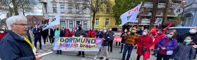 Bürgerlicher und antifaschistischer Protest gegen Nazi-Mahnwache und die Instrumentalisierung des 1. Mai