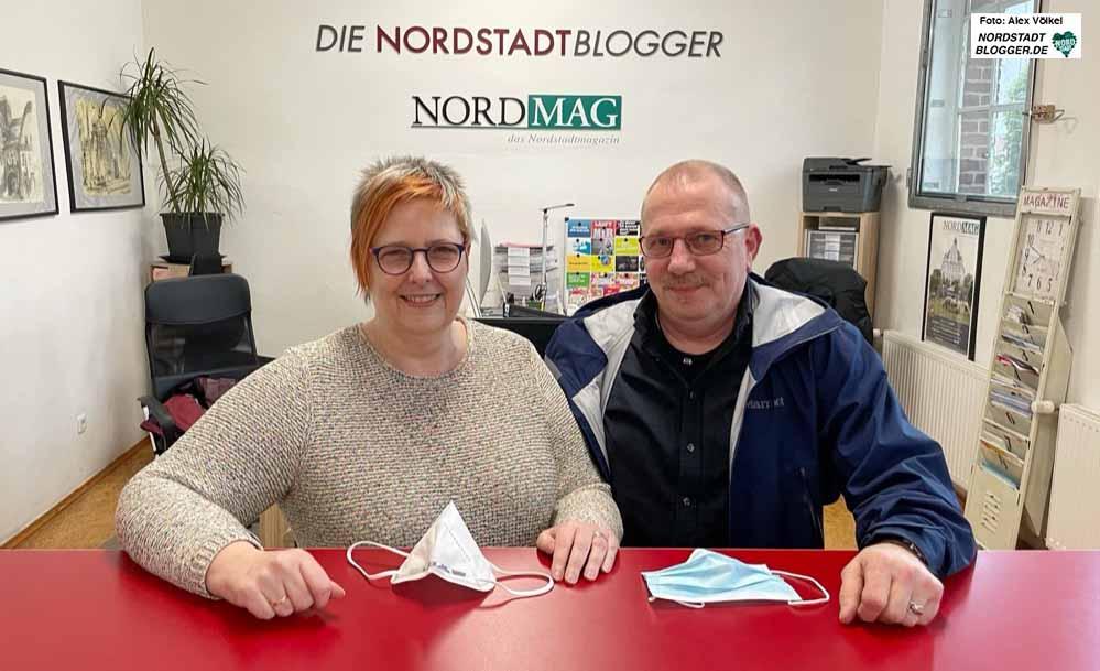 Die neue SPD-Fraktionsvorsitzende im Stadtrat, Carla Neumann-Lieven und ihr Mann Andreas Lieven, SPD-Fraktionschef in der BV Lütgendortmund, beim Redaktionsbesuch. Fotos: Alex Völkel