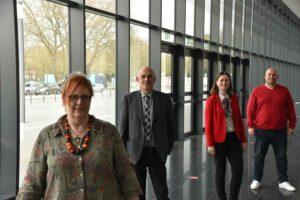 Der neue Fraktions-Vorstand: Carla Neumann-Lieven Franz-Josef-Rüther, Veronika Rudolf und Olaf Schlienkamp. Foto: Felix Spennemann