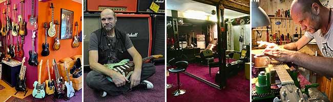 """Von der kleinen Werkstatt zum überregionalen Kultstatus: Vor 18 Jahren gründete Dr. Mad das """"Guitar-Hospital"""" in Hörde"""