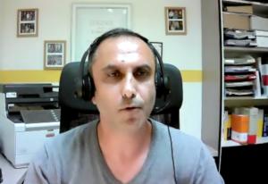 Ali Ismailovski, Vorstand des Flüchtlingsrates NRW. (Screenshot)