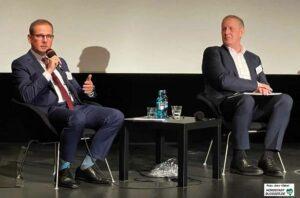 Stefan Heitkemper, Chef des Dortmunder U und Kulturdezernent Jörg Stüdemann. Foto: Alex Völkel